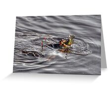 Largemouth Bass caught with a Crappie in the mouth Greeting Card