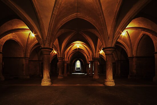 The Crypt, Rochester Cathedral by Irina Chuckowree