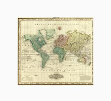 Vintage Map of The World (1823) Unisex T-Shirt