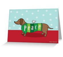 Holiday Peace Dachshund Greeting Card