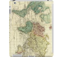 Vintage Map of The World (1823) iPad Case/Skin