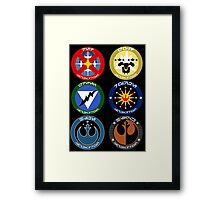 Pick Your Squadron - Insignia Series Framed Print