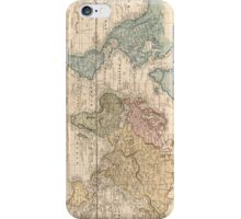Vintage Map of The World (1823) 2 iPhone Case/Skin