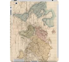 Vintage Map of The World (1823) 2 iPad Case/Skin