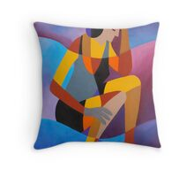 THE LONG DISTANCE RUNNER Throw Pillow