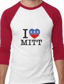 I Heart Mitt Men's Baseball ¾ T-Shirt