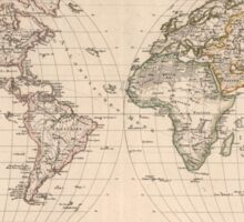 Vintage Map of The World (1827) 2 Sticker