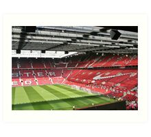 Old Trafford, The theatre of dreams. Art Print