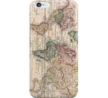 Vintage Map of The World (1833) iPhone Case/Skin