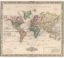 Vintage Map of The World (1833) Photographic Print