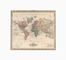 Vintage Map of The World (1833) Unisex T-Shirt
