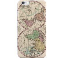 Vintage Map of The World (1842) iPhone Case/Skin