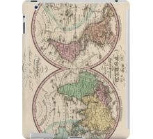 Vintage Map of The World (1842) iPad Case/Skin