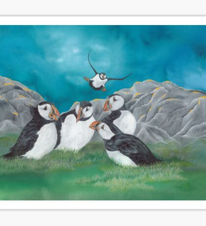 """""""Puffin Party"""" Sticker"""