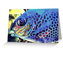 Blue Tropical Fish Greeting Card