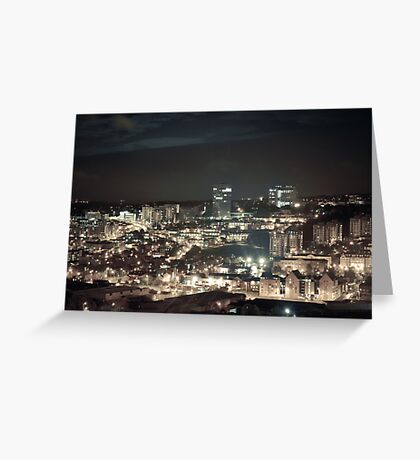 Sheffield by Night Greeting Card