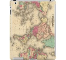Vintage Map of The World (1860) iPad Case/Skin
