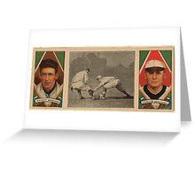 Benjamin K Edwards Collection Jack Knight Walter Johnson Washington Nationals baseball card portrait Greeting Card