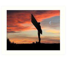 Angelic Sunset Art Print