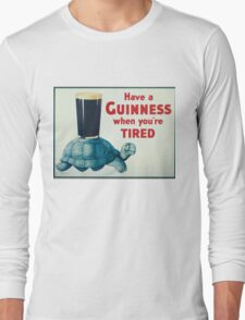 vintage Guinness beer ad Long Sleeve T-Shirt