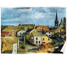 Le village de Treignes Belgium Poster