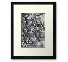 A Punch in the Face. Framed Print