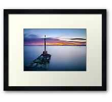 The meeting point between paradise and hell Framed Print