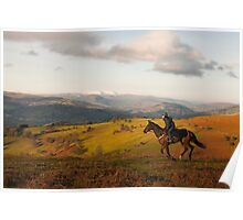 Horseriding in Wales Poster