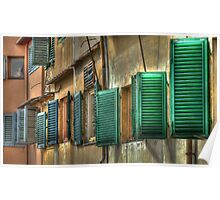 Florentine Shutters Poster