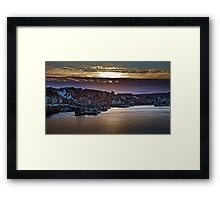 Sunset over the Old Town Framed Print