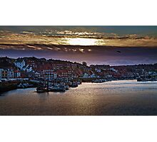 Sunset over the Old Town Photographic Print