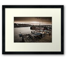 The harbour side at dusk Framed Print