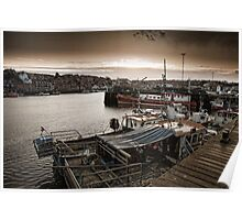 The harbour side at dusk Poster
