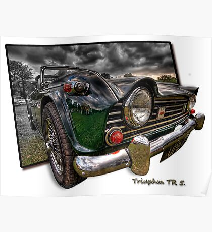 Triumph TR 5 (H.D.R. and O.O.B.) Poster