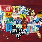 License Plate Map of The United States 2011 by designturnpike