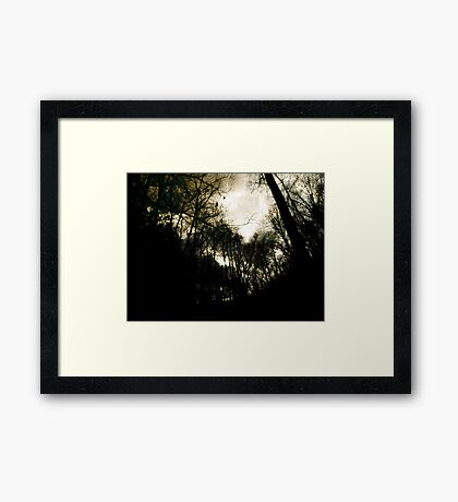 Once upon a Midnight Dreary Framed Print