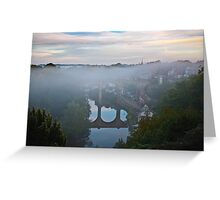 Early morning mist over the river Greeting Card