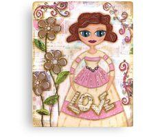 Love amongst the flowers Canvas Print