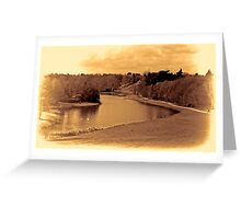 painshill park sepia Greeting Card