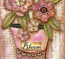 Blooming Pink Blossoms by Shirley Hudson