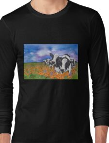 """Fragrant Friesians"" Long Sleeve T-Shirt"