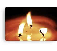 Burning Flame Canvas Print