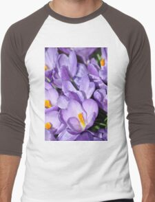 Violet Blossoms Men's Baseball ¾ T-Shirt