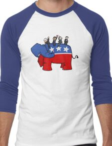 GOP Elephant Men's Baseball ¾ T-Shirt