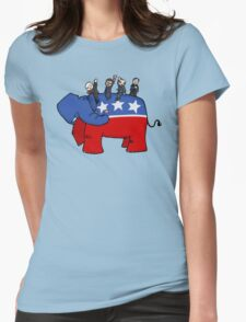GOP Elephant Womens Fitted T-Shirt