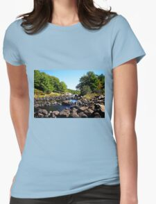 Rocky Shawanaga River And Cascades Womens Fitted T-Shirt