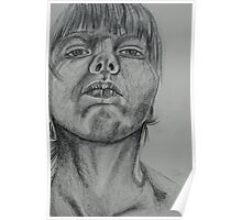 A Lower Angle-Self Portrait Poster