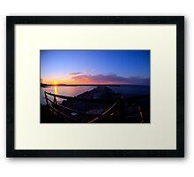 Sackets Harbor Sunset Framed Print