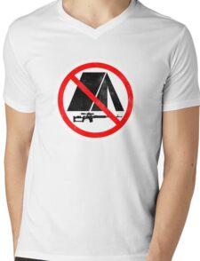 Anti Camper Mens V-Neck T-Shirt