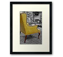Yellow Armchair Framed Print